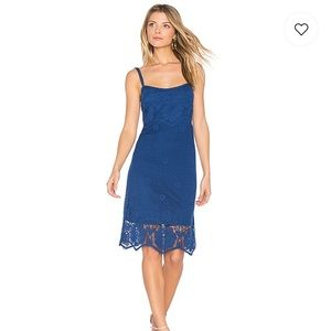 NWT BB Dakota Cassia Crochet Dress Indigo Blue